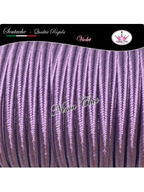 2 MT Cordoncino SOUTACHE cotone viscosa VIOLET 3mm