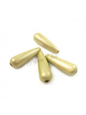 4pz GOCCE effetto perla in acrilico 10x30mm GOLD