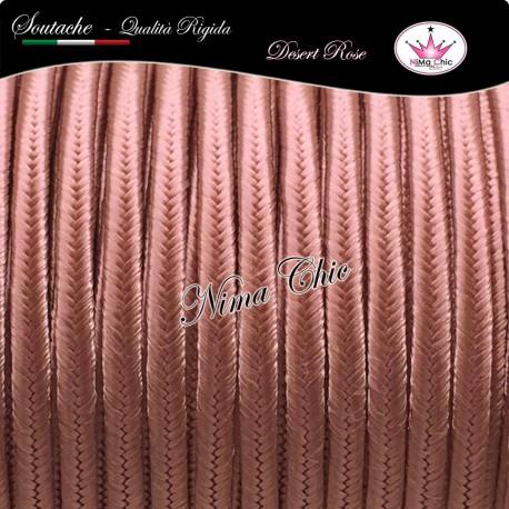 2 MT Cordoncino SOUTACHE cotone viscosa DESERT ROSE 3mm