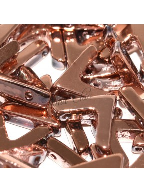 10 pz AVA BEADS perline conteria crystal full capri gold