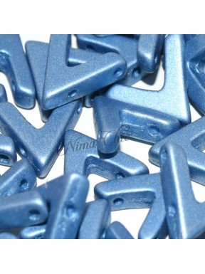 10 pz AVA BEADS perline conteria metallic sea blue