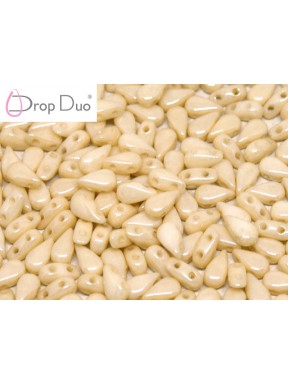 DropDuo 3 x 6 mm Chalk White Champagne Luster