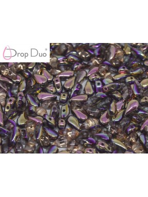 DropDuo 3 x 6 mm Crystal Capri Rose