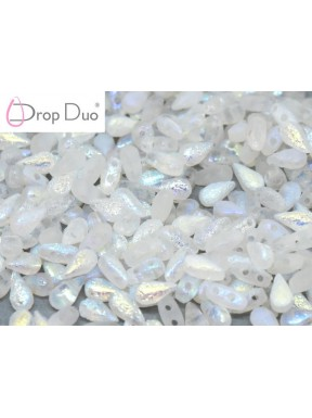 DropDuo 3 x 6 mm Crystal Etched AB Full
