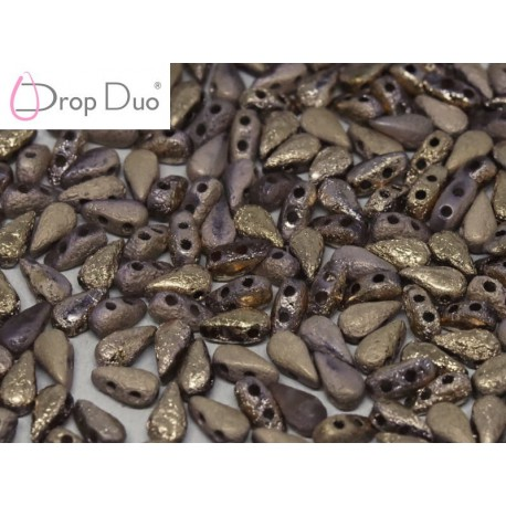 DropDuo 3 x 6 mm Crystal Etched Capri Gold Full