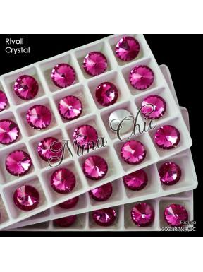 2 RIVOLI cristallo FUCHSIA