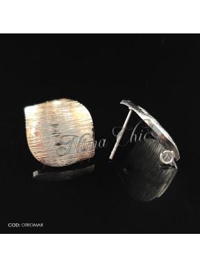 2pz BASI ORECCHINI in ottone col. argento OTROMAR