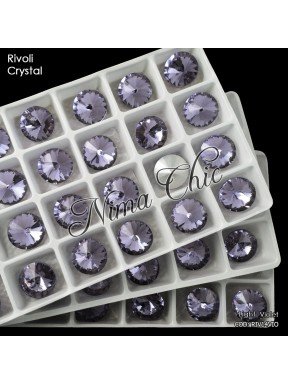 2 pz RIVOLI cristallo LIGHT VIOLET