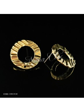 2pz BASI ORECCHINI in ottone color oro OTROTOR