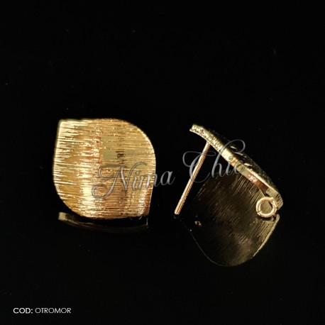 2pz BASI ORECCHINI in ottone color oro OTROMOR