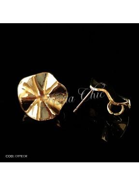 2pz BASI ORECCHINI in ottone color oro OTPIEOR