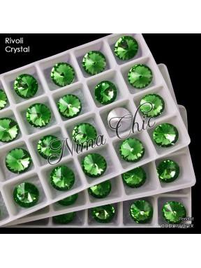 2 pz RIVOLI cristallo PERIDOT