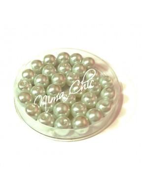 100 pz perle in vetro cerato pvc Bianco 6mm