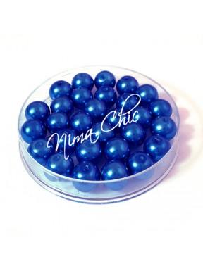 100 pz perle in vetro cerato pvc Blu cobalto 6mm