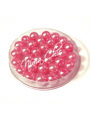 100 pz perle in vetro cerato pvc Rosa shocking 6mm