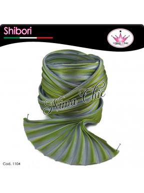 15 cm SETA SHIBORI grey green