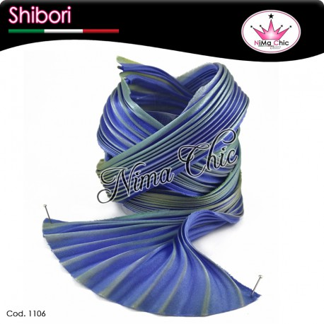 15 cm SETA SHIBORI Lapis sky
