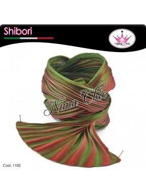 15 cm SETA SHIBORI Coral green