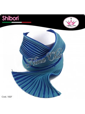 15 cm SETA SHIBORI capri blue