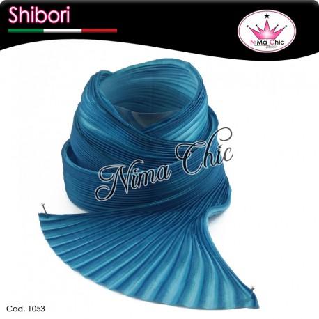 15 cm SETA SHIBORI bermuda blue