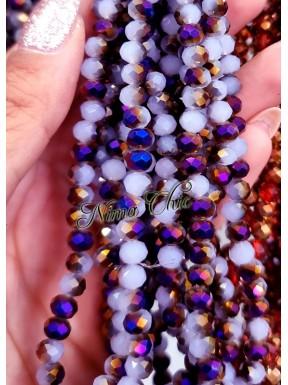 1 Filo di Cipollotti in cristallo sfaccettato 6mm Light Violet Purple1/2