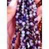 1 Filo di Cipollotti in cristallo sfaccettato 6mm Light Violet Purple 1/2