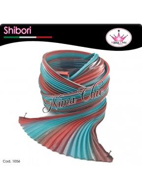 15 cm SETA SHIBORI rusty teal