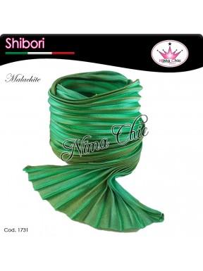 15 cm SETA SHIBORI malachite
