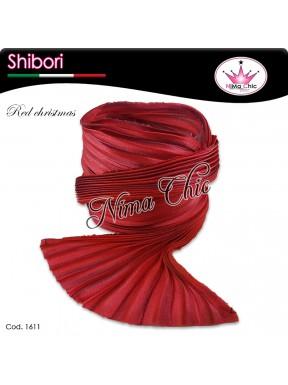 15 cm SETA SHIBORI red christmas