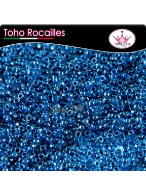 10 gr TOHO ROCAILLES 8/0 inside aqua capri lined