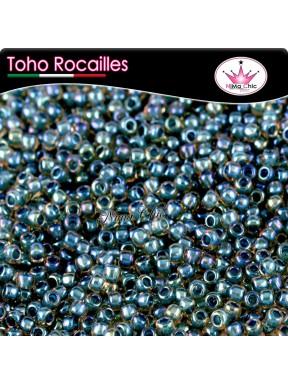 10 gr TOHO ROCAILLES 8/0 inside rainbow capri aqua