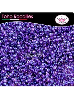 10 gr TOHO ROCAILLES 8/0 inside rainbow rosaline purple