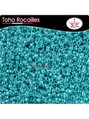10 gr TOHO ROCAILLES 8/0 opaque lustered turquoise