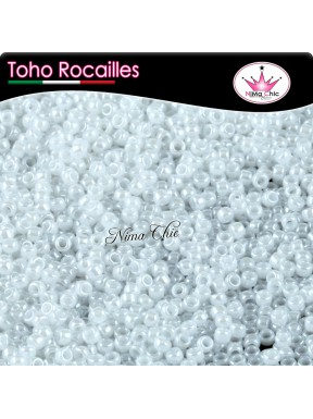 10 gr TOHO ROCAILLES 8/0 opaque lustered white
