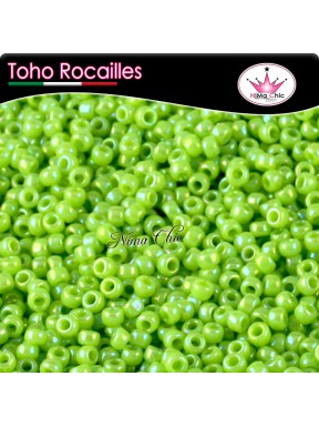 10 gr TOHO ROCAILLES 8/0 Opaque rainbow sour apple