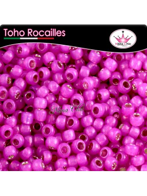 10 gr TOHO ROCAILLES 8/0 Silver lined milky hot pink