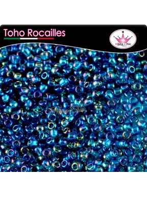 10 gr TOHO ROCAILLES 8/0 Transparent rainbow teal