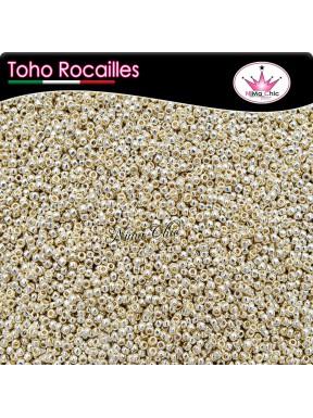 10 gr TOHO ROCAILLES 11/0  Permafinish galvanized aluminum