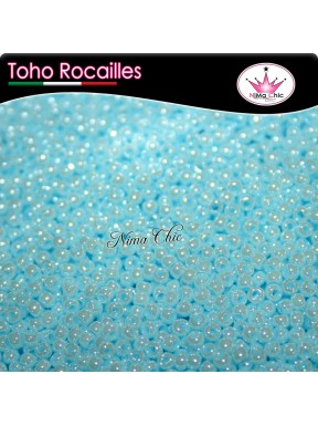 10 gr TOHO ROCAILLES 8/0 opaque lustered pale blue