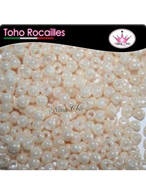 10 gr TOHO ROCAILLES 8/0 opaque lustered light beige