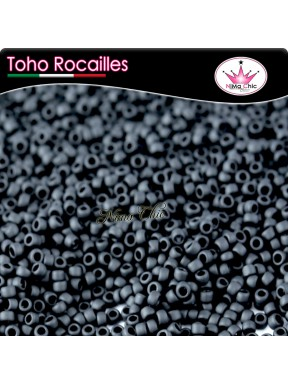 10 gr TOHO ROCAILLES 8/0 opaque frosted jet