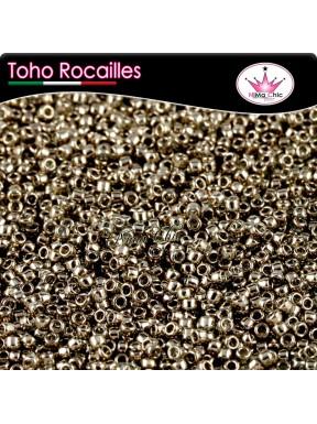 10 gr TOHO ROCAILLES 15/0 Gold lustered montana blue