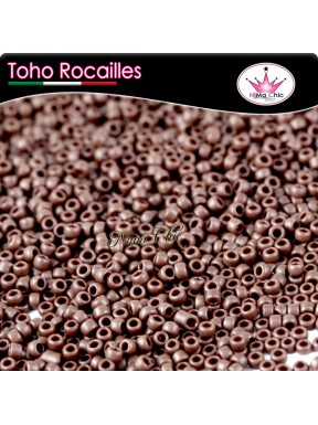 10 gr TOHO ROCAILLES 15/0 Opaque frosted oxblood