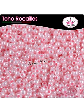 10 gr TOHO ROCAILLES 15/0 Opaque lustered baby pink