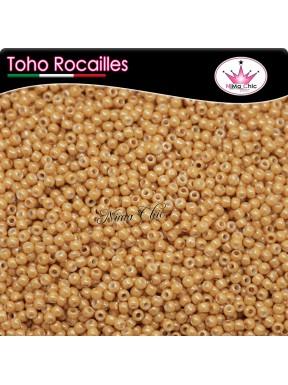 10 gr TOHO ROCAILLES 8/0 opaque lustered dark beige
