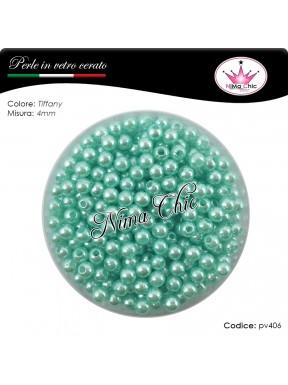 200 pz perle in vetro cerato pvc Tiffany 4mm