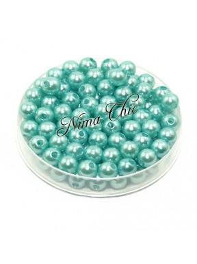 100 pz perle in vetro cerato pvc Verde Ty 6mm
