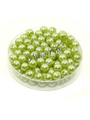 100 pz perle in vetro cerato pvc Verde chiaro 6mm