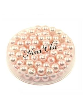 100 pz perle in vetro cerato pvc Rosa 6mm