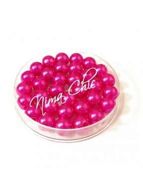 80 pz perle in vetro cerato pvc Fuxia 8mm